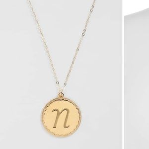 'Dalton' Initial Pendant Necklace by MOON AND LOLA